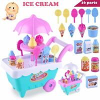 Kids Gift Ice Cream Trolley Play Set Kids Pretend Play Toy Food Toys New! UK