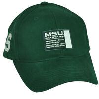 NCAA Michigan State Spartans  Hat Cap Adjustable Sport Green Est 1855 MSU