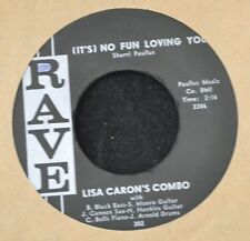 HEAR IT RARE ELVIS PRESLEY RELATED MEMPHIS Lisa Caron's Combo RAVE 302 No Fun