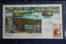 American Wildlife Beaver 22c Stamp FDC Handpainted Collins#M1231 Sc#2316