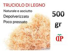 TRUCIOLO DI LEGNO NATURALE 500gr PAGLIA LEGNO PER CESTE NATALIZIE CONFEZIONI