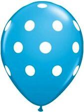 "10 pc - 11"" Qualatex Big Polka Dot Robin Egg Blue Latex Balloon Party Decoration"