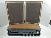 Vtg Midland 19-526 AM FM 8 Track Stereo Receiver W Speakers For Parts Or Repair