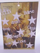 Metal word & star ornaments Believe Smile Family Giggle Life is Good Dream 16pc