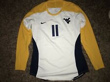 Nike West Virginia Mountaineers #11 Womens Volleyball L/S White Game Jersey *L*
