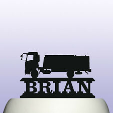 Personalised Acrylic Lorry and Truck Driver Birthday Cake Topper Decoration