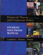 Student Solutions Manual for Financial Theory and Corporate Policy, Thomas E. Co