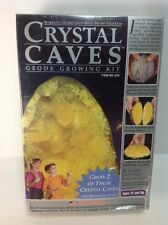 Crystal Caves Geode Growing Kit 2 Yellow Citrine Geodes - Kristal Educational