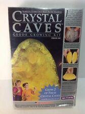 Crystal Caves Geode Growing Kit 2 Yellow Citrine Geodes - Kristal Educational