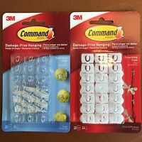 3M Command Decorating Hooks Clips with Adhesive Strips - Damage-Free Hanging