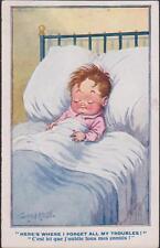 CARTE POSTALE HUMORISTIQUE ENFANT DANS SON LIT - COMIQUE SERIE ANGLAISE
