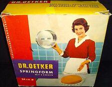 "Vintage in Box•Dr. Oetker•Springform•9.5""/24cm•Baking Tin+Bundt Cake Pan•Germany"