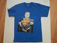 SUPER TRUMP T SHIRT PRESIDENT DONALD J TRUMP 45 SUPERMAN SIZE MEDIUM M U.S.A.