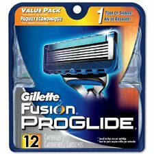 Genuine Gillette Fusion Proglide Razor Refill Cartridge Blades, 12 Count  NEW