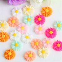 50 Pcs Mixed Daisy Flower Resin Flatback Slime Beads for DIY Scrapbooking Crafts