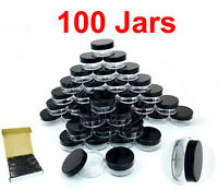 100 PACKS 10 Gram/10ML High Quality Lotion Lip Balm Cream Sample Jar Containers