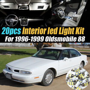 20Pc Super White Car Interior LED Light Bulb Kit for 1996-1999 Oldsmobile 88