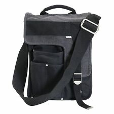 Ducti Deployment Canvas Messenger Bag & Tablet Case - Black & Gray