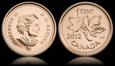 2 X Canadian 1 cent penny coin 2012 Canada - From mint rolls