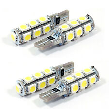 4x T10 Wedge 194 LED WHITE CANBUS Light Bulb 13SMD 5050 158 192 W5W 168 921 2825