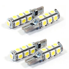 4x LED PURE WHITE CANBUS LIGHT BULB LAMP T10 W5W 194 168 5050 SMD 13