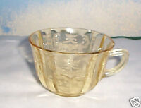 AMBER DEPRESSION GLASS CUP MADRID FEDERAL L@@K