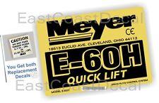 2 Snow Plow Meyer Pump decals (E60H1) Get 1 Mini Torque + 1 Meyer E60H Decal New