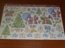 papier voile pour découpage technique serviette (père noël, sapin) 48X33,5cm
