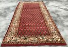 Authentic Hand Knotted Vintage Indo Mir Badami Wool Area Rug 5 x 2 Ft