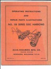 Allis Chalmers No 11b Series Disc Harrows Operating Instructions Manual Tm 76