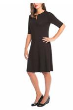 Mario Serrani Ladies Womens Keyhole Shift Black Dress A-Line Sz M EUC
