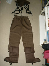 Disney Pirates of the Caribbean Jack Sparrow 4 piece Halloween Costume Youth XL