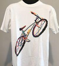 Vintage 1990's Cycling Bicycle Bike Pastel Artwork Ten Speed Men'S M T-Shirt