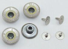 8 Metallknöpfe Knöpfe  20mm altmessing   03.67#247