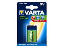 5x Varta 9V / Block Akku NiMH 200 mAh Ready to Use
