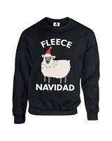 Fleece Navidad Funny Adults Christmas Jumper Feliz Navidad Xmas Sweatshirt