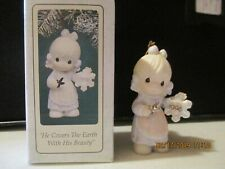 Precious Moments Ornament He Covers The Earth With His Beauty Dated 1995 142662