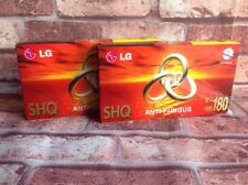 LG SHQ ANTI FUNGUS E-180 BLANK VHS VIDEO CASSETTES SEALED BIDEO TAPES BN