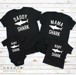 Baby Shark Matching Family Set (mummy, daddy, baby, t-shirts, top, twinning)