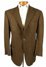 Daniel Cremieux 44R Mens Brown Tweed Blazer Sport Coat Jacket Patch Pockets 388