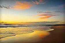 Beach Dawn Tracie Louise Coastal Photograph Sunrise Sunset Print Poster 26x18