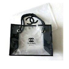 """Chanel VIP Tote Purse Makeup Bag Black & Transparent """"Selling very fast"""""""
