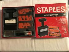 Vintage Staples Self Inking Printing Kit Make Your Own Instant Rubber Stamp