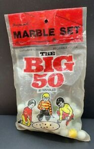 Vintage Marble 50 Marbles Sealed (The BIG 50) Imperial Marbles Bag No. 7568 1974