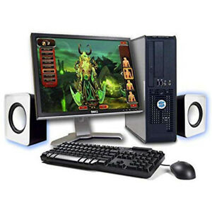ULTRA FAST DELL / HP Dual Core Gaming PC Tower WIFI & 8GB 500GB GT710 + Win 10