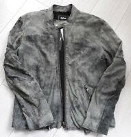 Tigha  Herren  Lederjacke Daniel Suede Vintage Grey Grau L  UVP 299,95€