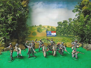 IMEX CIVIL WAR ARTILLERY CREW AND INFANTRY.