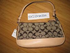 Coach Signature purse handbag tan beige brown leather BNWT BRAND NEW 6094 64905de4c4a78
