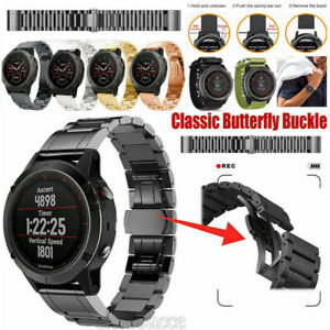 For Garmin Fenix 3 5 5X 5S Stainless Steel/Nylon Watch Band Bracelet Strap Belt