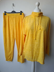 Canda C&A size large size 18-20 yellow tracksuit loungewear terry towelling vtg